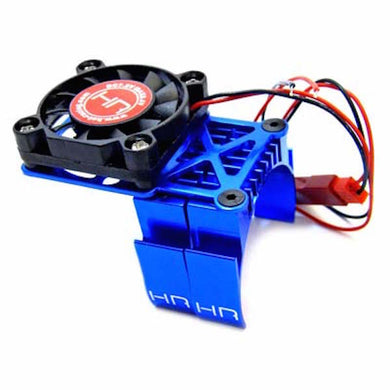 Hot Racing MH550TE06 Blue Multi Mount Fan Heat Sink 36mm Motors: Traxxas Slash 2wd