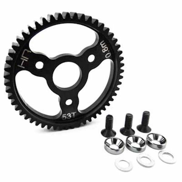Hot Racing SJT253 Gunmetal 53T Steel Spur Gear 32P .8 Mod: Slash 4x4 T-Maxx 3.3