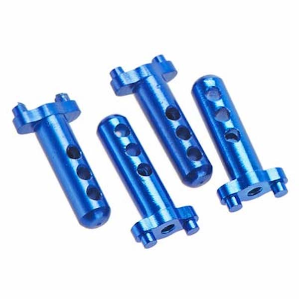 Hot Racing MCC20106 Aluminum Body Posts (4) Blue Losi Micro Crawler