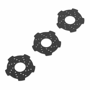 Hot Racing NRO15G Graphite SS Wave Slipper Pads Nero (3)