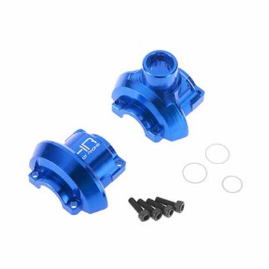Hot Racing RVO11L06 Blue CNC Aluminum Outer Diff Case: Traxxas Revo 3.3