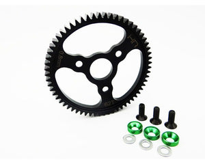 Hot Racing SERVO262 Steel Spur Gear (62t 0.8 Mod)(Green) - Traxxas