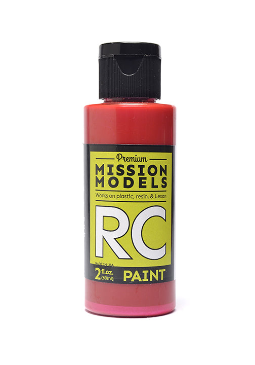 Mission Models MMRC-003 Water-Based RC Paint, 2oz Bottle, Red