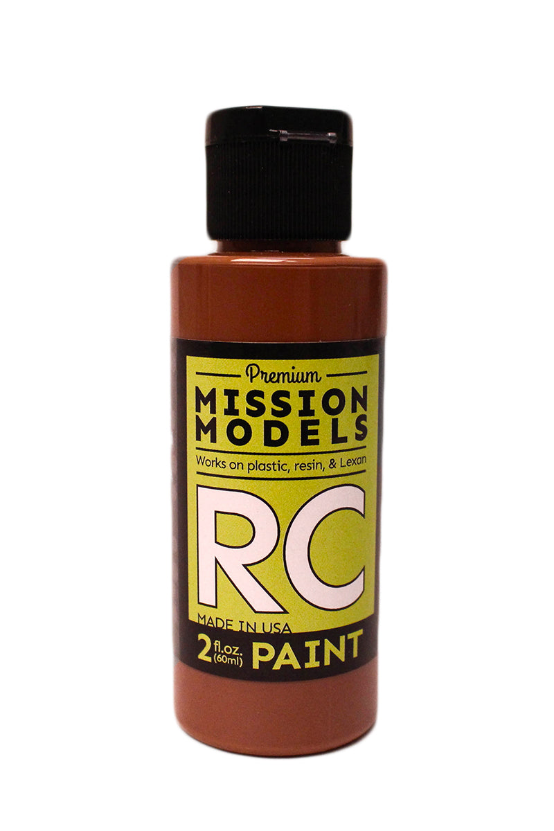 Mission Models MMRC-007 Water-Based RC Paint, 2oz Bottle, Brown