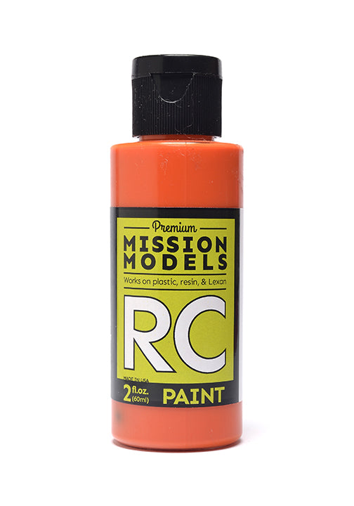 Mission Models MMRC-008 Water-Based RC Paint, 2oz Bottle, Orange