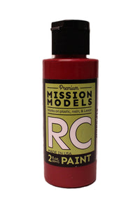 Mission Models MMRC-013 Water-Based RC Paint, 2oz Bottle, Burgundy
