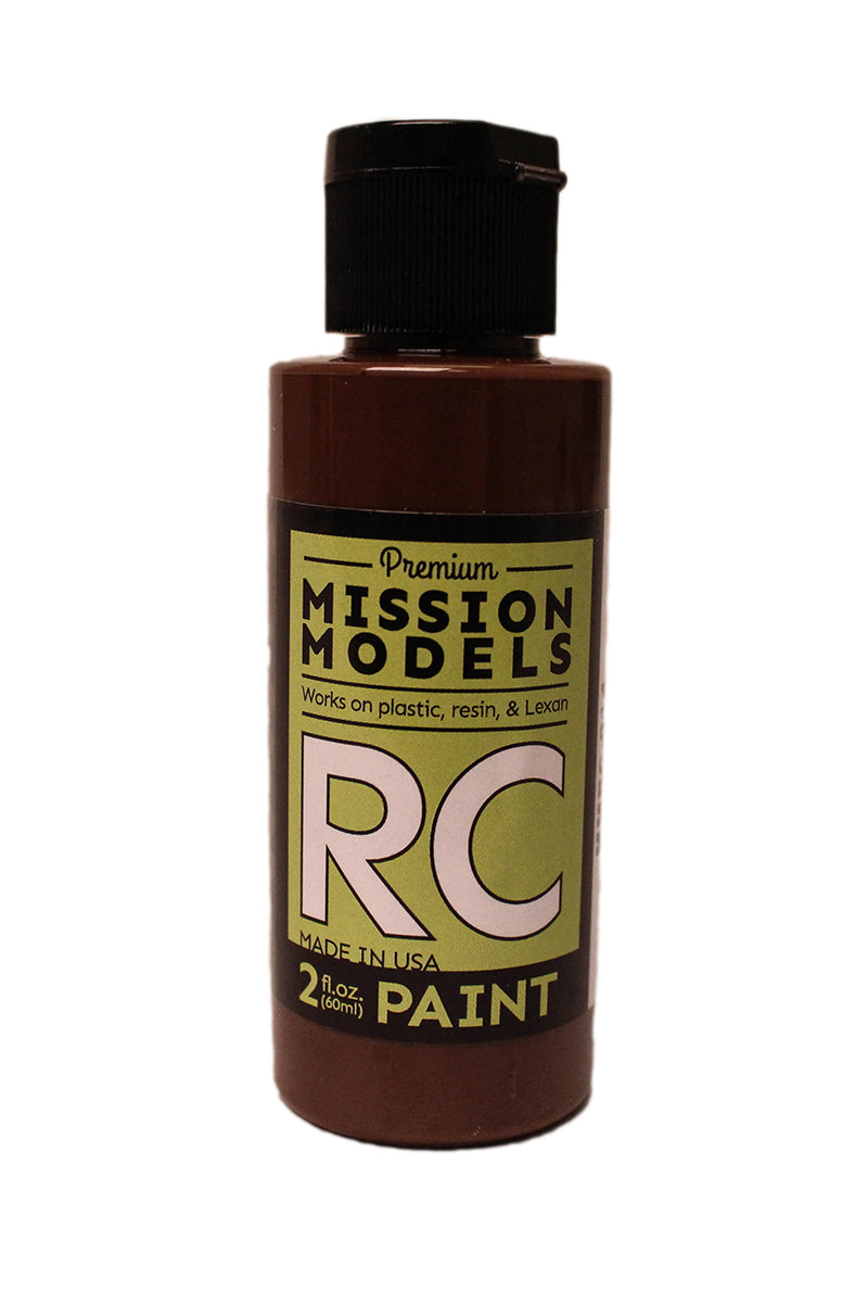 Mission Models MMRC-014 Water-Based RC Paint, 2oz Bottle, Dark Brown