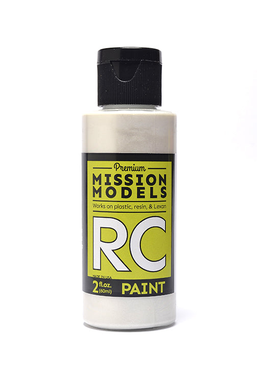Mission Models MMRC-018 Water-Based RC Paint, 2oz Bottle, Pearl White