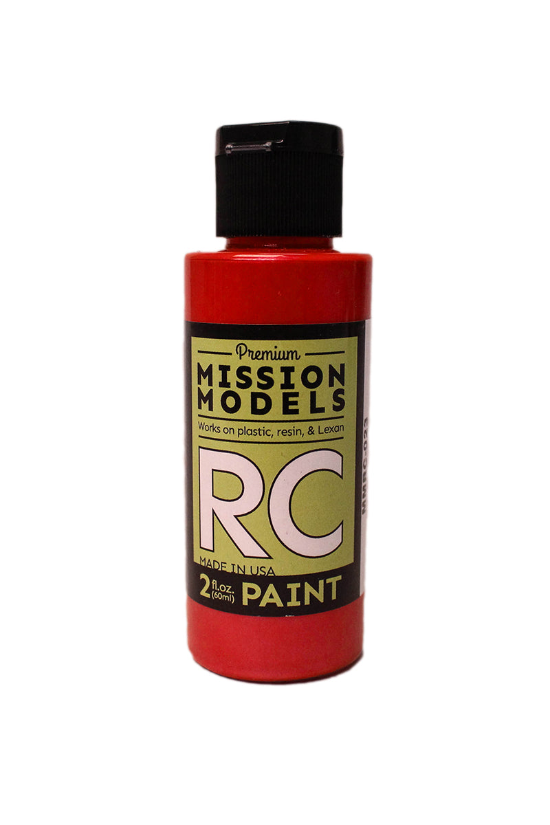 Mission Models MMRC-023 Water-Based RC Paint, 2oz Bottle, Pearl Red