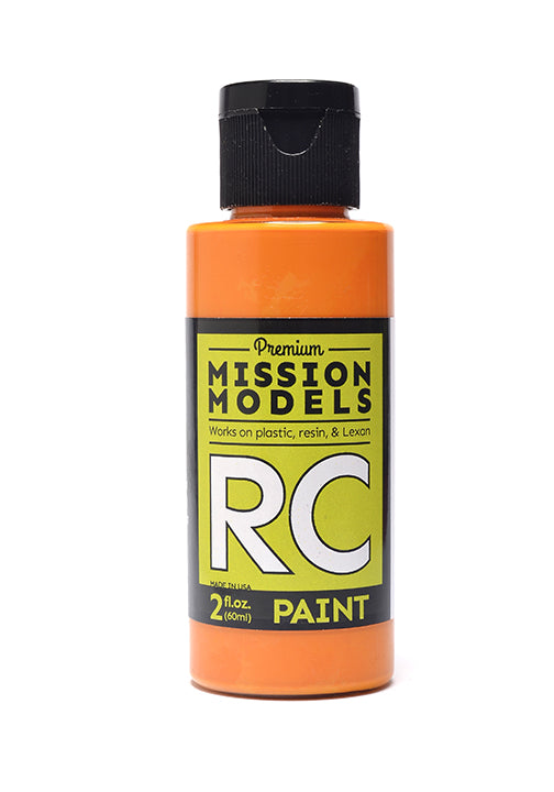 Mission Models MMRC-026 Water-Based RC Paint, 2oz Bottle, Pearl Orange