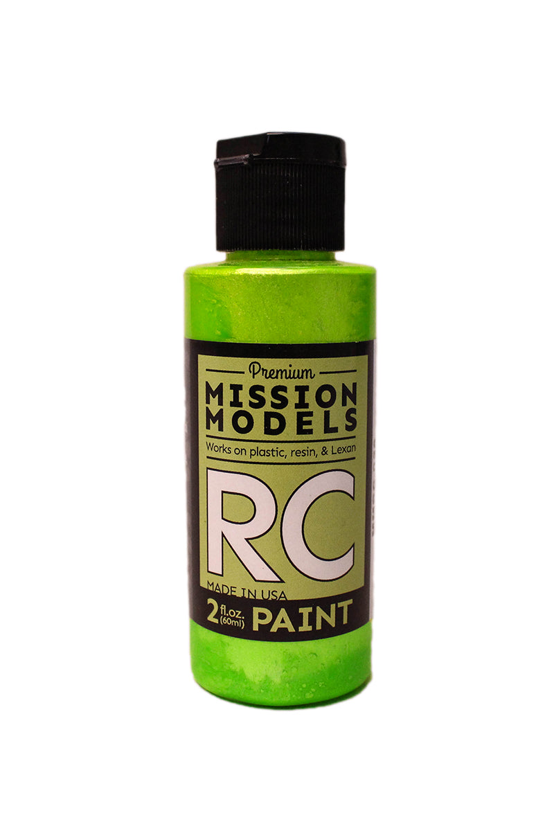 Mission Models MMRC-028 Water-Based RC Paint, 2oz Bottle, Pearl Lime