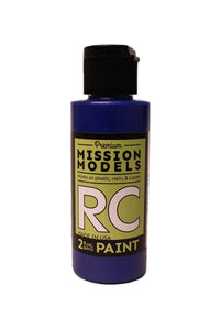 Mission Models MMRC-030 Water-Based RC Paint, 2oz Bottle, Irdescent Blue