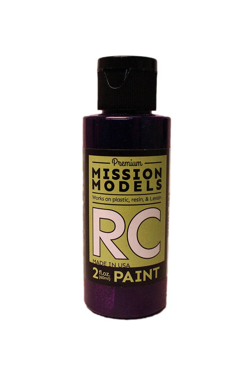 Mission Models MMRC-031 Water-Based RC Paint, 2oz Bottle, Iridescent Purple