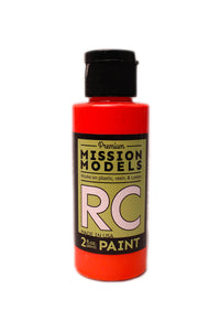 Mission Models MMRC-046 Water-Based RC Paint, 2oz Bottle, Fluorescent Racing Red