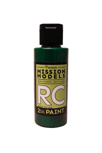 Mission Models MMRC-052 Water-Based RC Paint, 2oz Bottle, Translucent Green