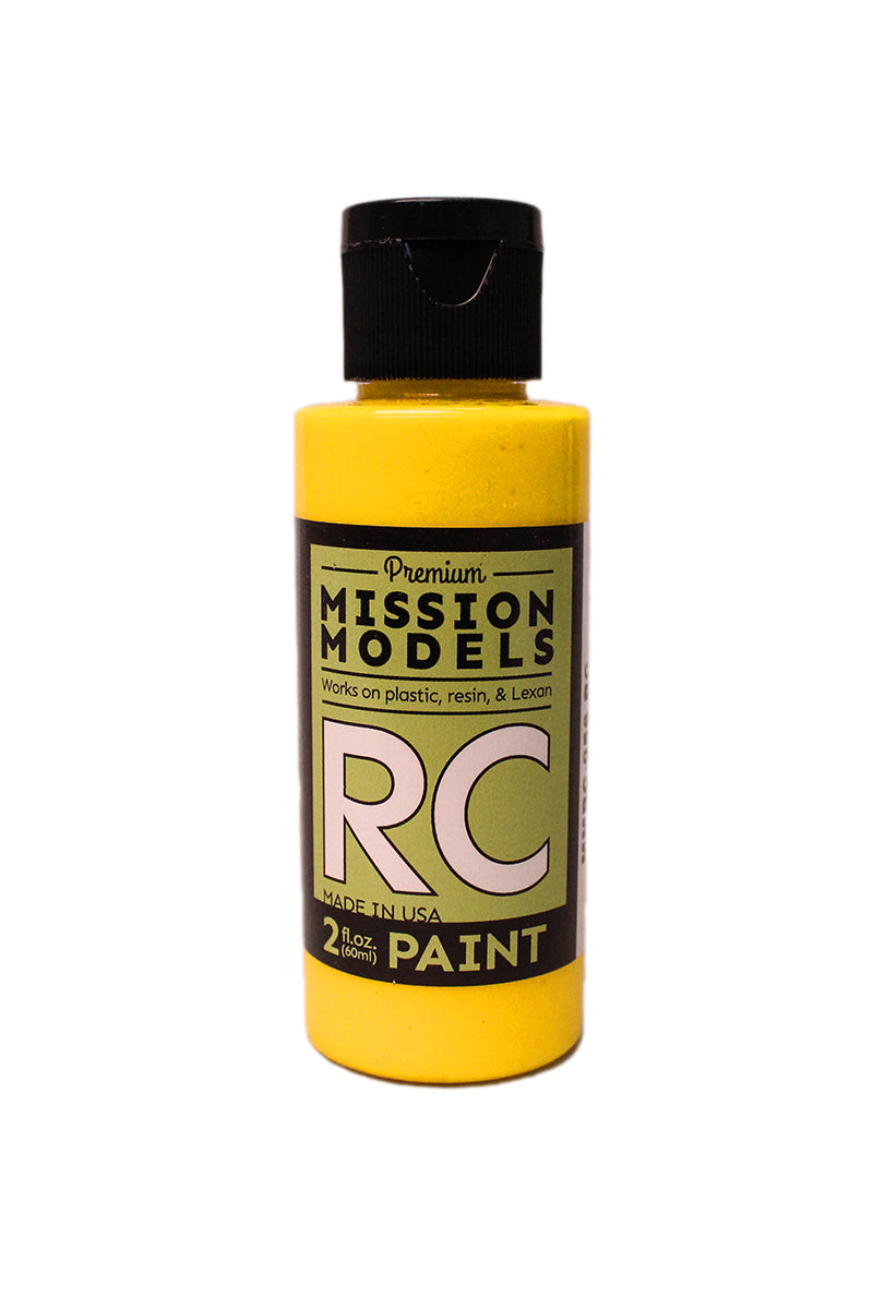 Mission Models MMRC-056 Water-Based RC Paint, 2oz Bottle, Translucent Yellow
