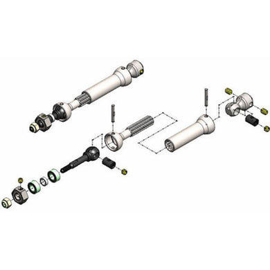 MIP 10130 X-Duty CVD Kit Universal Drive-Shafts: Rear 1/10 Slash 4x4 & Slash 2wd
