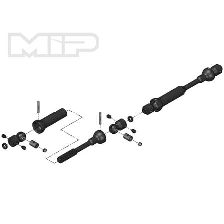 MIP 18120 Center Drive Kit 110mm x 135mm w/5mm Hubs