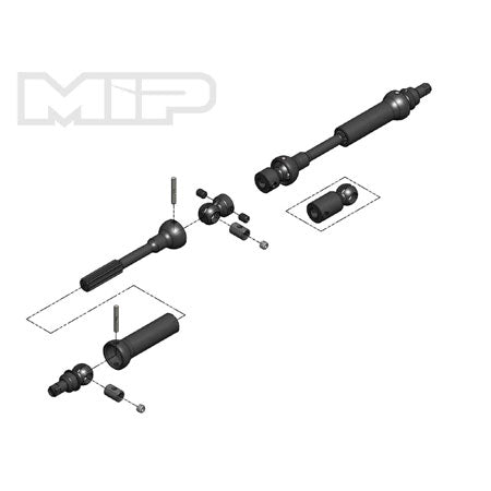 MIP 18180 Center Drive Kit, 95mm-130mm w/ 5mm Hubs