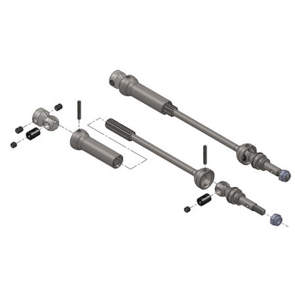 MIP 9168 Spline CV Universal CVD Drive Shaft Kit: Traxxas 1/10 Summit