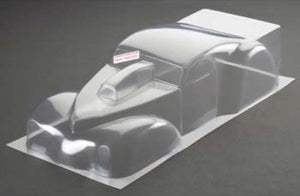"RJ Speed RJS1020 Clear Unpainted '41 Willys Pro Mod Body 1/8-1/10 - 10.5"" to 12.0"" Wheelbase"