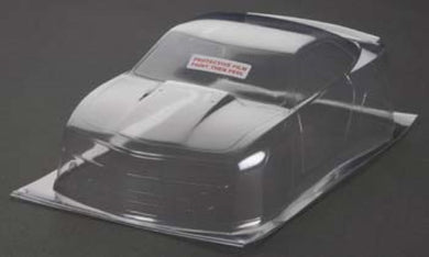 RJ Speed RJS1026 Clear Unpainted Modern Muscle SS Body: Associated 1/18 RC18R