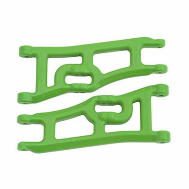 RPM 70664 GReen Wide Front A-Arms: Traxxas 1/10 Rustler 2wd & Stampede 2wd