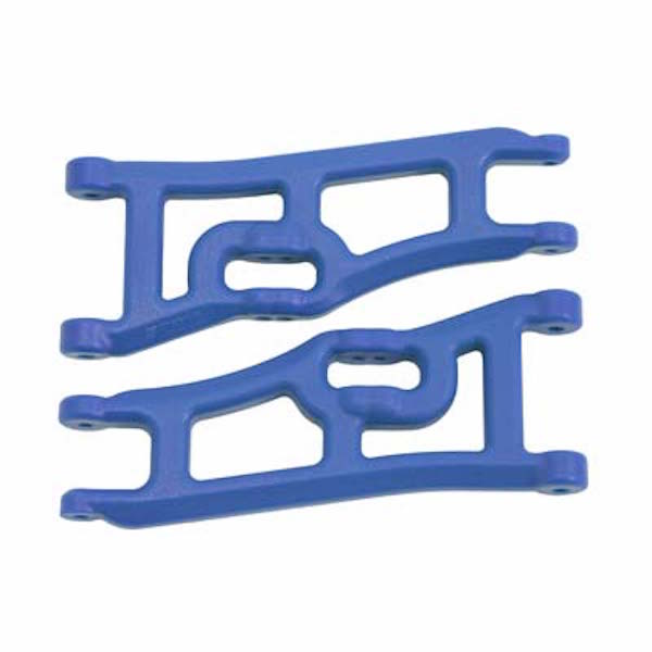 RPM 70665 Blue Wide Front A-Arms: Traxxas 1/10 Rustler 2wd & Stampede 2wd