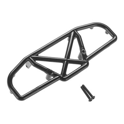 RPM 73112 Black Rear Bumper: Losi Ten-SCTE