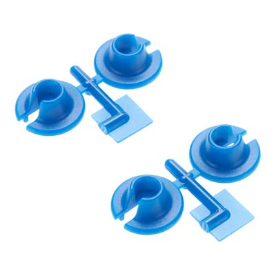 RPM 73155 Blue Lower Spring Cups: Traxxas 1/10 Slash 4x4