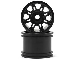 RPM 73202 Black Spider Front Wheels(2): Losi 1/18 Mini-T