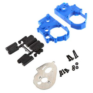 RPM 73615 Hybrid Gearbox Housing/Rear Mounts, Blue: 2wd Slash/Stampede/Rustler