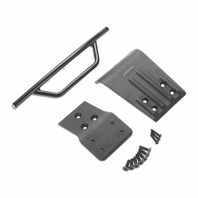RPM 80022 Black Front Bumper and Skid-Plate: Traxxas 1/10 Slash 4x4