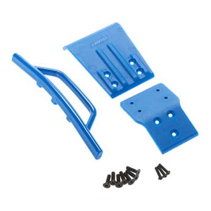RPM 80025 Blue Front Bumper & Skid-Plate: 1/10 Slash 4x4