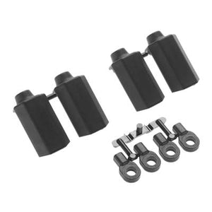 RPM 80402 Shock Shaft Guards (4), Black: Traxxas