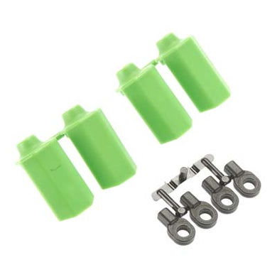 RPM 80404 Green Shock Shaft Guards (4): Traxxas Slash 4x4 & 2wd