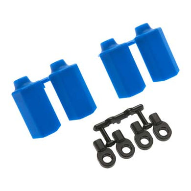 RPM 80405 Blue Shock Shaft Guards(4): Traxxas 1/10 Slash 4x4 & 2wd & TD DESC410R