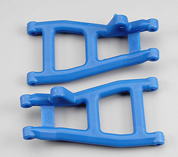 RPM 80535 Rear Suspension A-Arms (2) Blue: Nitro Rustler & Stampede