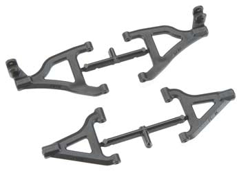 RPM 80652 Black Front Upper/Lower Suspension A-Arms: Traxxas 1/16 Slash 4wd