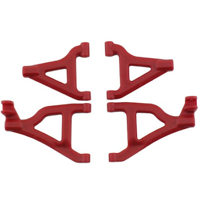 RPM 80659 Red Front Upper/Lower Suspension A-Arms: Traxxas 1/16 Slash 4wd