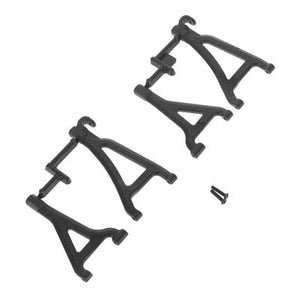 RPM 80692 Front Upper & Lower Suspension A-Arms(4) Black: 1/16 E-Revo