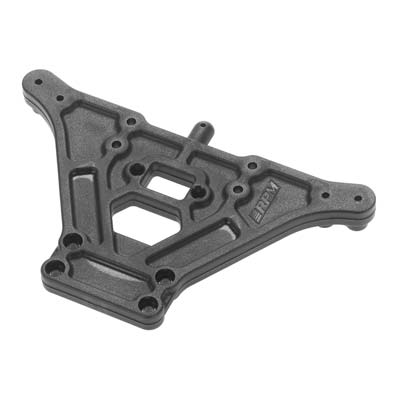 RPM 80862 Rear I-Beam Shock Tower Black: Nitro Rustler