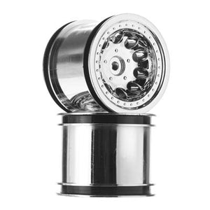 "RPM 82053 Chrome Revolver 2.2"" Truck Wheels: 1/10 Traxxas 2wd Electric Rear"