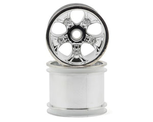 RPM 82103 Front Bully Wheels 2.2, Chrome: Associated