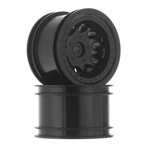 "RPM 82222 Black ""Revolver"" Crawler Wheels, Narrow Base: Traxxas 1/10 Slash 4x4"