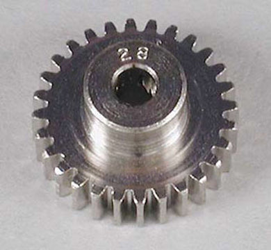 RRP 1028 Pinion Gear 28T/Tooth 48P/Pitch 1/8 Bore - Nickel Plated Steel