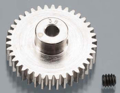 RRP 1038 Pinion Gear 38T/Tooth 48P/Pitch 1/8 Bore - Nickel Plated Steel