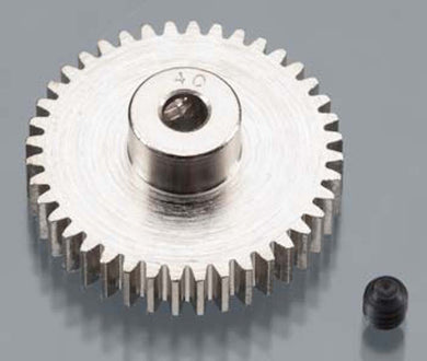 RRP 1040 Pinion Gear 40T/Tooth 48P/Pitch 1/8 Bore - Nickel Plated Steel