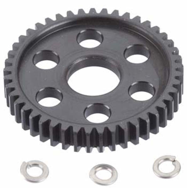 RRP 7945 32P/Pitch Hard Blk Stl Spur, 45T: Slash, Stampede 4x4