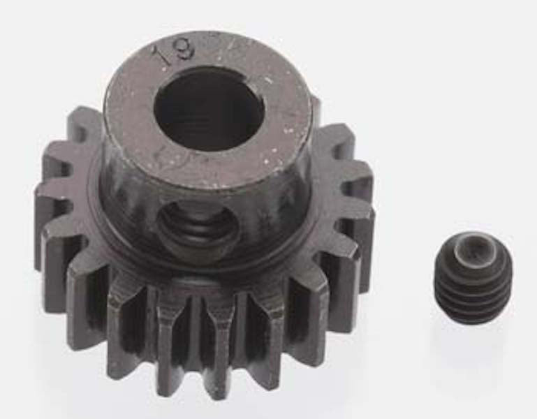 RRP 8619 Extra Hard 19T Blackened Steel 32P/Pitch Pinion 5mm